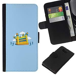 KingStore / Leather Etui en cuir / Samsung ALPHA G850 / Pintura juegos infantil;