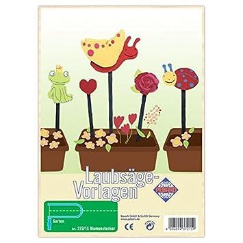Matches21 Blumenstecker Gartendeko Holz Laubsägevorlage Din A4