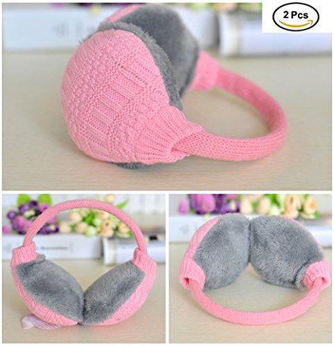 YOOKOON 2PCS Unisex Knit EarMuffs Warm Outdoor Adjustable Woolen Wrap Ear Warmers by YOOKOON