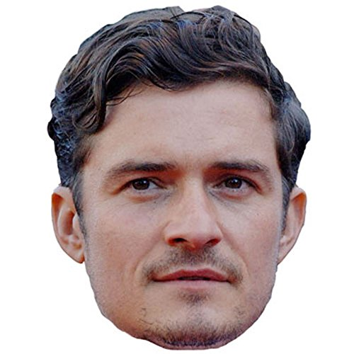 Orlando Bloom Celebrity Mask, Card Face and Fancy Dress Mask -