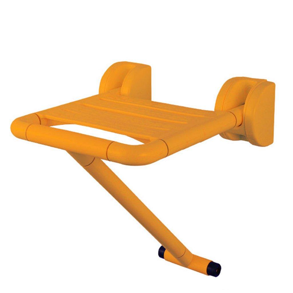 TH シャワーチェア 高齢者アクセシブル障壁折りたたみトイレスツールバスルームシートシャワースツール 風呂椅子 ( 色 : Yellow-leg ) B07BW8S3VD Yellow-leg Yellowleg