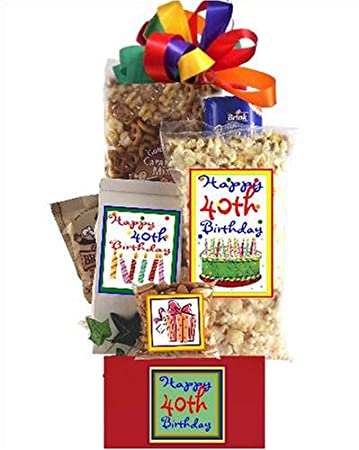 Image Unavailable Not Available For Color 40th Birthday Gift Basket Party