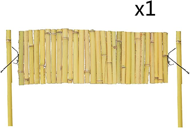 T5S6 Valla de jardín Madera de bambú Plegable para jardín, Borde Decorativo de Pared, 4 tamaños, bambú, 3 Unidades, 120 x 60 cm: Amazon.es: Hogar
