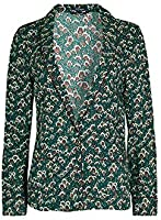 Scotch & Soda/Maison Scotch Women's Drapey Pyjama Blazer, Combo I, Green, Print, X-Small