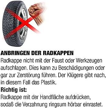 15 Zoll Rkk01 Premium Line Schwarz Radkappen Radzierblenden 4 Stück Auto