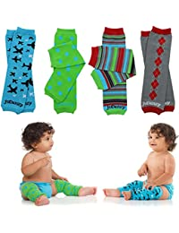 4-pack Organic baby & toddler leg warmers gift set for boys & girls