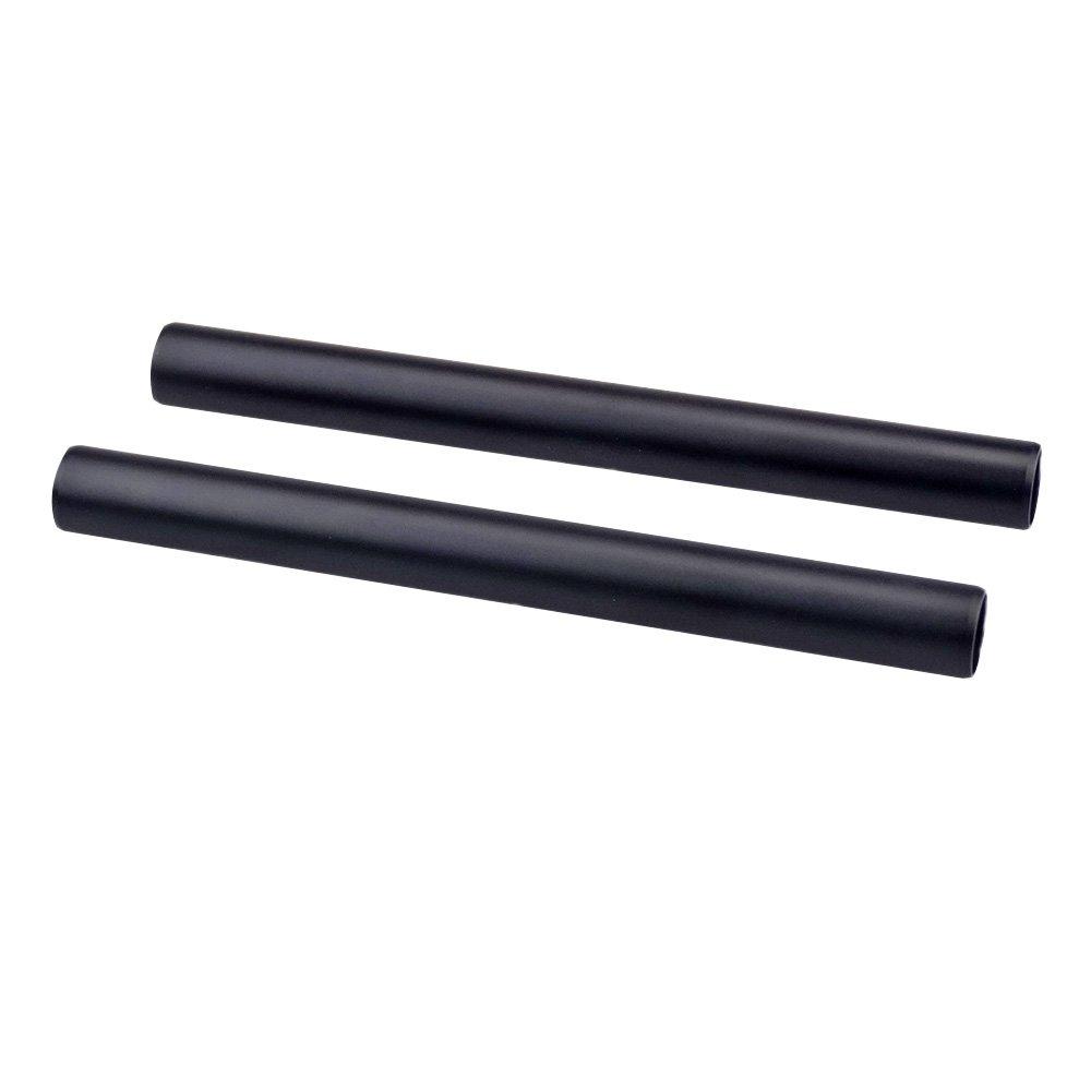 accstore 2pcsアルミ合金15 mmロッド15 cm / 5.9 inch long for DSLRカメラ15 mmロッドシステムレールロッド(ブラック)   B074LB193M