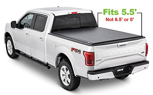 Tonno Pro LR-3045 Lo-Roll Black Roll-Up Truck Bed Tonneau Cover 2009-2018 Ford F-150 | Fits 5.5' - Ford F-150 Front Bed