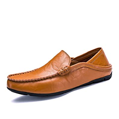 Amazon Com British Style Casual Shoes For Men Driving Shoes Slip