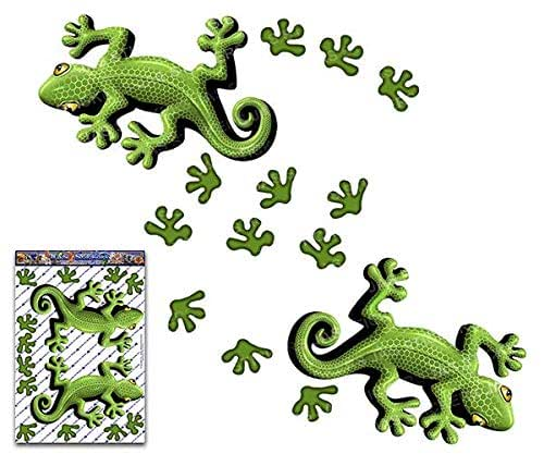 Green Lizard Vinyl Twin Sticker Pack For Laptop Bicycle Jetski Caravan ST032GR/_3 JAS Stickers/® GECKO ANIMAL CAR DECAL