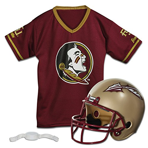Florida Fan Halloween Costume (Franklin Sports Florida State Seminoles Kids College Football Uniform Set - NCAA Youth Football Uniform Costume - Helmet, Jersey, Chinstrap Set - Youth)