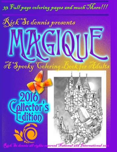MAGIQUE - a spooky adult coloring book: The Collector's Edition -