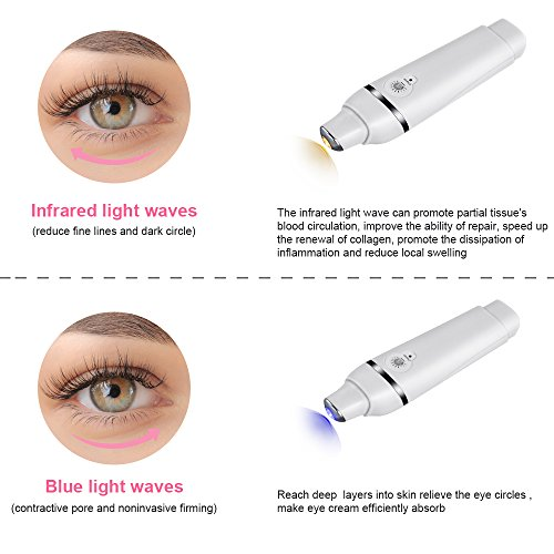 Eye Massager with Heat, MYSWEETY 42℃ Heated Anions Import Sonic Vibration Facial Massager Relieves Fine Lines, Puffiness and Dark Circle, USB Rechargeable by MYSWEETY (Image #3)