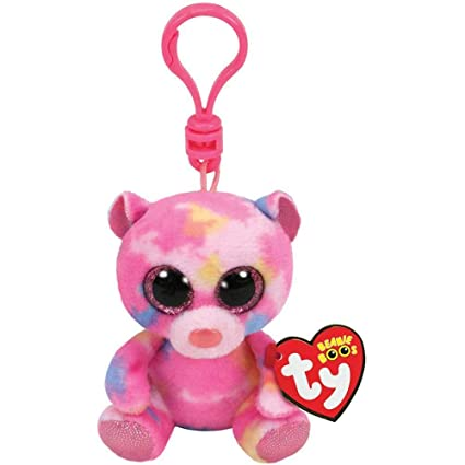 633098a3b5f Image Unavailable. Image not available for. Color  T Y Ty Beanie Boos FRANKY  - Pink Multicolored Bear ...