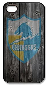LZHCASE Personalized Protective Case For Iphone 5/5S CoverSan Diego Chargers Logo Wood Look