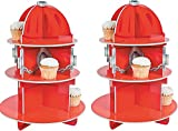 Fun Express Fire Hydrant Cupcake Holder Stand(2pk)