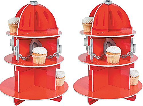 Fun Express Fire Hydrant Cupcake Holder Stand(2pk) by Fun Express Inc.