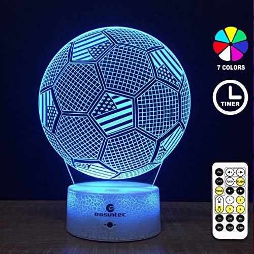 Easuntec Soccer Toys for Boys,Soccer Ball Night Light