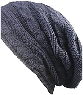 ZYT Adulti Primavera/Autunno Inverno Cotone Cappelli A Falda Larga,Solidi Tinta Unita, Black, One-Size
