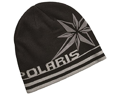 OEM Polaris Black Northern Star Beanie Snowmobile Winter Hat One Size Fits Most