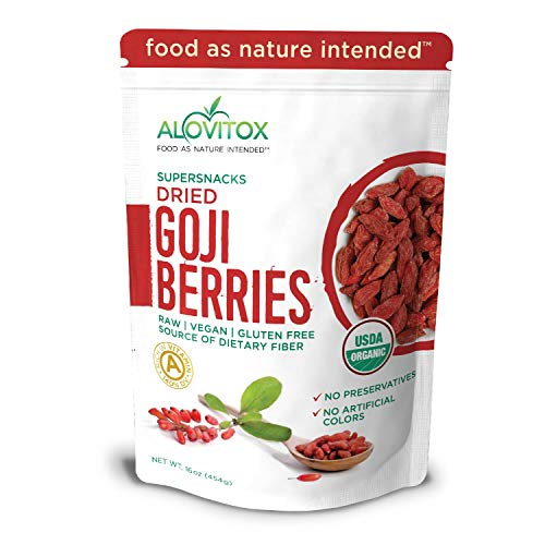 Alovitox Organic Goji Berries 16 oz | Raw