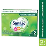 Similac Advance Step 2 Non-GMO Baby Formula, Concentrated Liquid, 12 x 385 mL, 6-24 Months