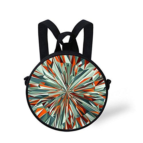 Round Nyed0574i Girls Handbag Print for Circle Cute Backpack Stylish FancyPrint xqOPtt