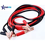 STARVIN Car Auto Battery Booster Jumper Cable Battery Storage, Clamp with Alligator Wire 500Amp, 2.21 Meter