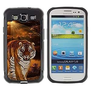 Suave TPU GEL Carcasa Funda Silicona Blando Estuche Caso de protección (para) Samsung Galaxy S3 III I9300 / CECELL Phone case / / Tiger Night Sunset Wilderness Ray Sun /