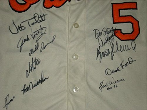 Baltimore Orioles Greats Team Signed Jersey W/Proof! (earl Weaver, Etc.) - Autographed MLB Jerseys