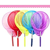 Lanlan Extendable Nylon Insect Net, Telescopic Butterfly Net, Bug Catcher Nets Fishing Tool for Kids Toy