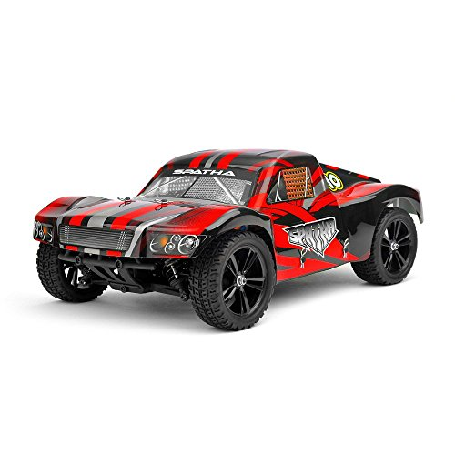 Iron Track RC Spatha 1:10 Scale 4WD Electric Short Course Truck Ready to Run (Red)