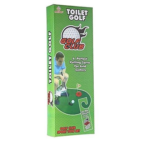 Amazoncom Funny Toilet Bathroom Mini Golf Accessories Mat Potty - Golf bathroom accessories