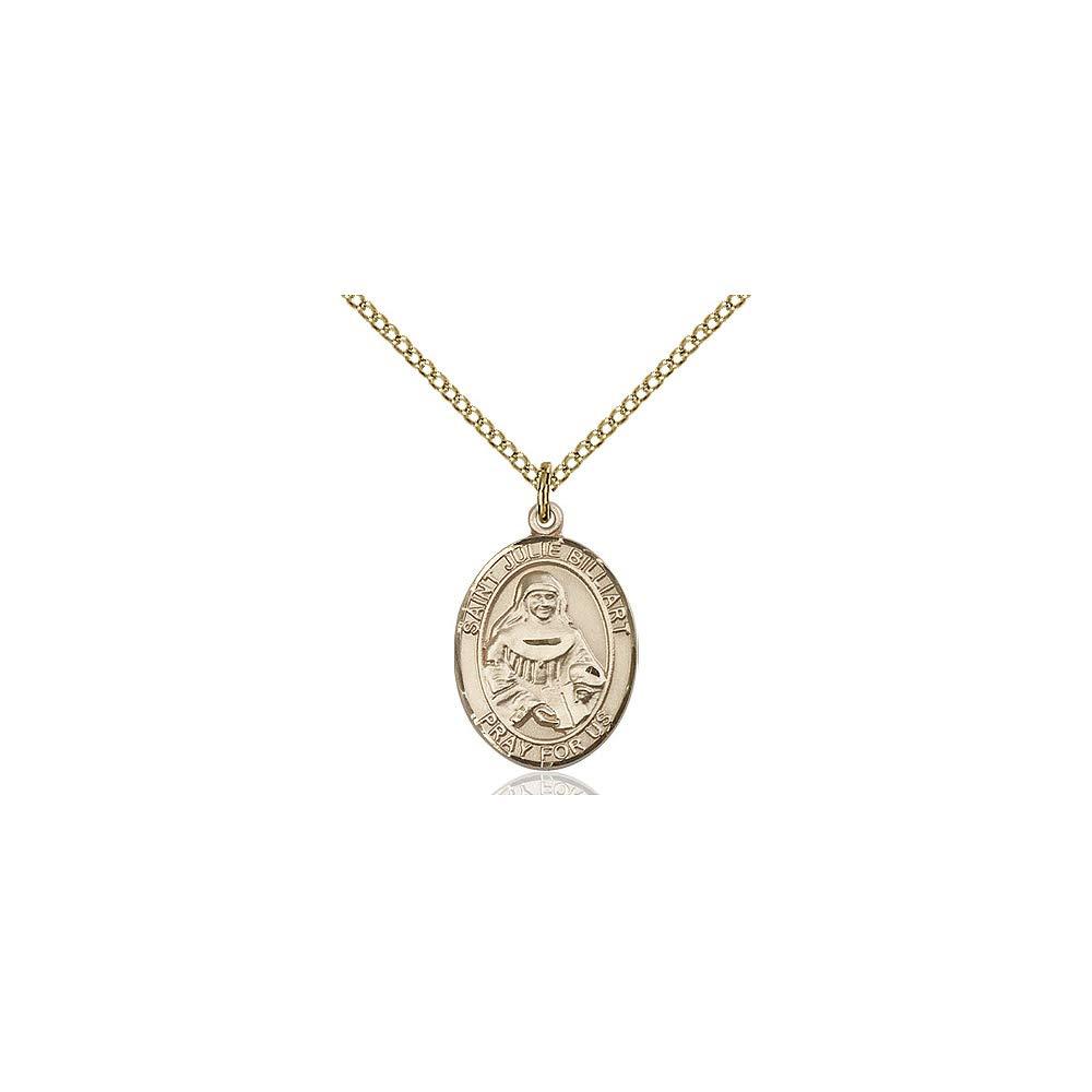 DiamondJewelryNY 14kt Gold Filled St Julie Billiart Pendant