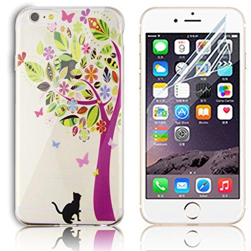 Transparente TPU Funda para iPhone 6 Plus 5.5 Silicona Gel Sunroyal Resistente a los Arañazos en su Parte Trasera Flexible Bumper Case Cover [Anti-Gota] [Choque Absorción] Ultra Fina Protectora Alta  A-35