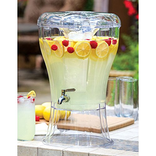 Buddeez Unbreakable 3-1/2-Gallon Beverage Dispenser With Removable Ice-Cone, 3.5 Gallon