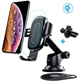 Wireless Car Charger, Baseus Dashboard Air Vent Gravity Car Phone Holder for Samsung Galaxy S9 S8 S7, iPhone X, Xs, Xr, 8 Plus and More