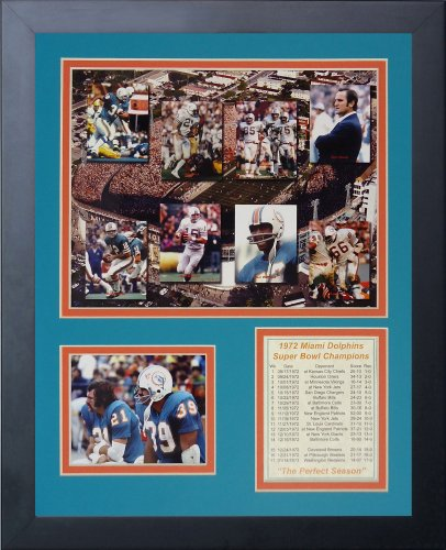 Legends Never Die 1972 Miami Dolphins Mosaic Framed Photo Collage, ()