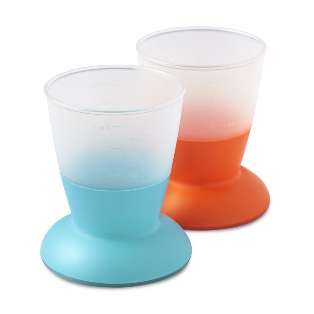 BabyBjörn Pack de 2 Vasos para Bebé, Naranja y Turquesa 072105