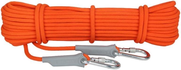 LIINA ロープ 12mmの静的な屋外の岩登りロープ、火の脱出の安全懸垂下降ロープ (Size : 50m)  50m