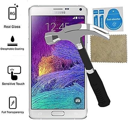 Protector Pantalla Cristal Templado compatible con Samsung Galaxy Note 4, Maxima Proteccion: Amazon.es: Electrónica