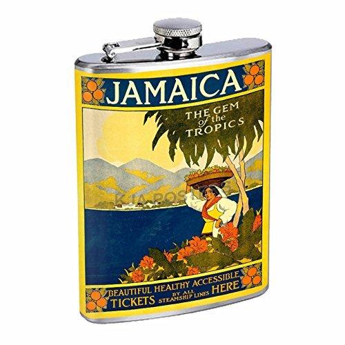 格安 Perfection Inスタイルステンレススチールフラスコ8オンスビンテージポスターd-163ジャマイカGemのThe Tropics B016B7HO9A B016B7HO9A, アミマチ:b4f5211c --- asindiaenterprises.com