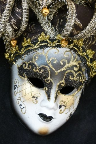 Venetian Mask - Blank Notebook with Fleur de Lis Corners: Soft Cover, 6 x 9 Journal, 100 Pages
