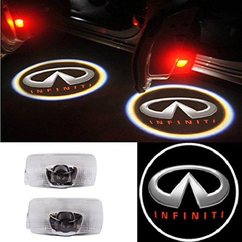 Moonet 2x Door LED Courtesy Shadow Ghost Welcome Lamp Projector Light for Infiniti Ex Fx G M Series Q50 Q70 Q60 Q70 Qx50 QX56 QX80 (Infiniti Qx56 Parts)