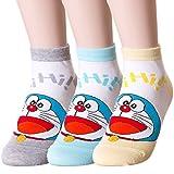 Hi Doraemon Socks (Onesize, 3 Pairs)