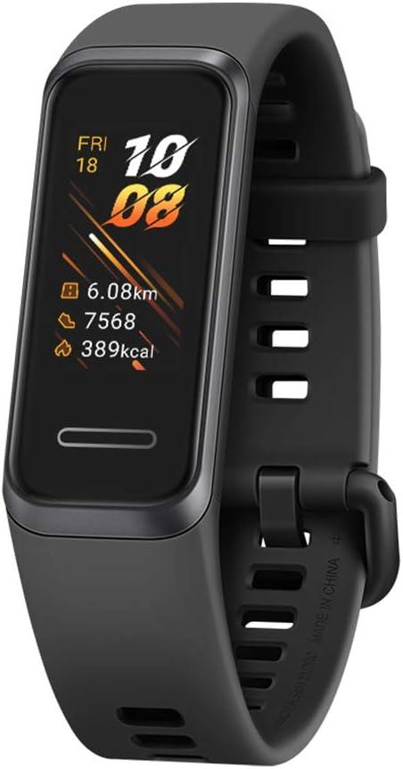 HUAWEI Band 4- Pulsera de actividad con pantalla a color TFT de 0.96 pulgadas, monitorización continua con HUAWEI TruSeen TM 3.5 24/7, monitoreo del sueño, resistencia al agua 5ATM, Graphite Black