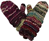 1417 MT Agan Traders Knit Wool Mismatched Warm ( Mitten, Multi 17 )