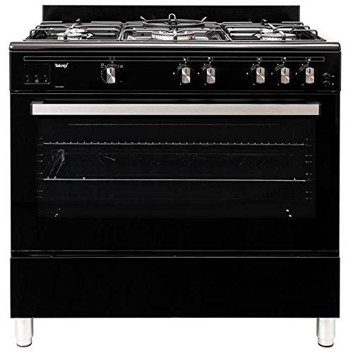 Teknix TKGF90BL 90cm Gas Range Cooker Black