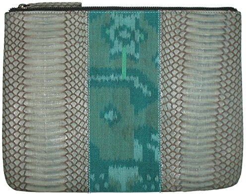Beirn Ikat Cobra Cosmetic Bag (Aqua) by Beirn