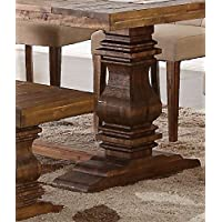 New Classic Normandy Dining Table Base, Vintage Distressed